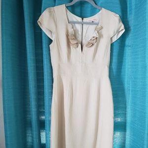 Rebecca Taylor Cream Linen Dress